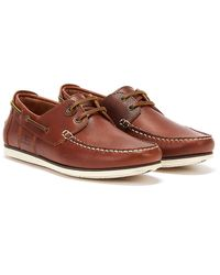 Barbour Mens Cognac Capstan Boat Shoes - Brown