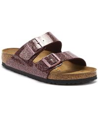 Birkenstock Arizona Womens Cosmic Sparkle Port Red Sandals