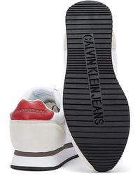 Calvin Klein Pu Nylon Runner Sneakers - White