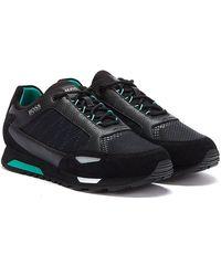 BOSS by Hugo Boss Parkour Runn Net Mens Black Sneakers