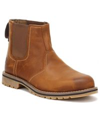 Timberland Larchmont Mens Oakwood Brown Chelsea Boots