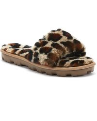 UGG UGG Cozette Womens Leopard Slippers - Brown