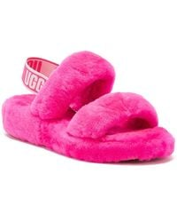 UGG UGG Oh Yeah Womens Hot Pink Slippers