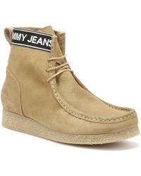 Tommy Hilfiger - Jeans Crepe Outsole Wallaby Mens Sand Beige Boots - Lyst