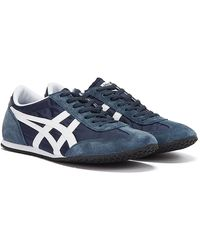 Onitsuka Tiger Machu Racer Midnight / White Trainers - Blue