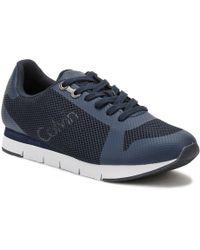 Calvin Klein Jeans - Mens Blue Jacques Mesh Trainers - Lyst