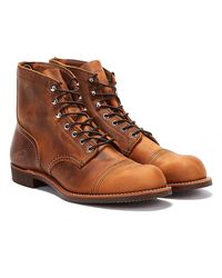 Red Wing Iron Ranger Copper Boots - Brown