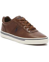Ralph Lauren Hanford Mens Tan Leather Sneakers - Brown