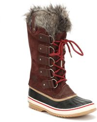 Sorel - Womens Redwood / Red Element Joan Of Arctic Boots - Lyst