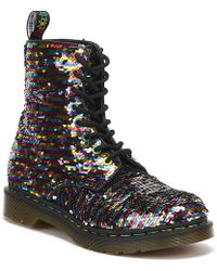Dr. Martens - Dr. Martens 1460 Pascal Sequin Womens Multi / Silver Boots - Lyst