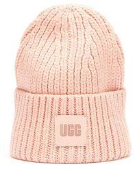 UGG Rib Knit Beanie - Pink