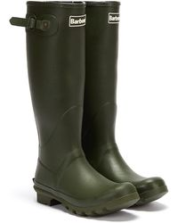 Barbour Mens Olive Bede Wellington Boots - Green