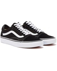 Vans Old Skool Mens Black / White Canvas Sneakers