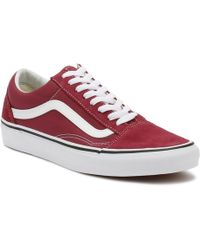 Vans - Dry Rose Red / True White Old Skool Sneakers Women's Shoes (trainers) In Red - Lyst