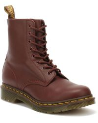 Dr. Martens Dr. Martens Pascal Virginia Womens Cherry Red Leather Boots