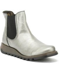 Fly London - Womens Lead Silver Salv Borgogna Boots - Lyst