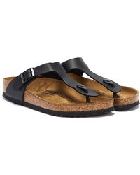 Birkenstock Gizeh Birko-flor Womens Black Sandals
