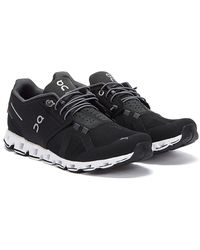 On Running The Cloud Mens Black / White Trainers