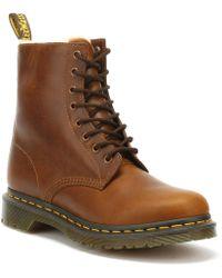 Dr. Martens Dr. Martens 1460 Serena Fur Lined Womens Butterscotch Brown Boots