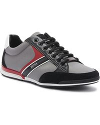 BOSS Saturn Low Top Trainers - Grey