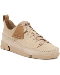 Clarks - Womens Pink Trigenic Flex Trainers Women's Shoes (trainers) In Pink - Lyst