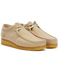 Clarks Wallabee Vegan Sand Shoes - Grey