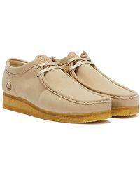 Clarks Wallabee Vegan Chaussures Gris Clair Pour