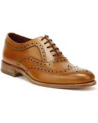 Loake Fearnley Mens Tan Brogues - Brown