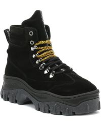 Bronx - Womens Black Jaxstar Hi-top Chunky Boots - Lyst