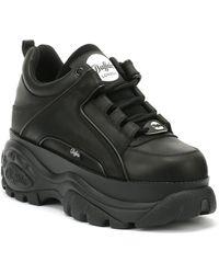Buffalo London 1339-14 Schwarze Plateau Sneakers