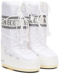 Moon Boot Classic Icon Womens White Nylon Boots