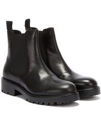 Vagabond Kenova Womens Black Leather Chelsea Boots