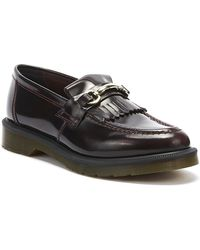 Dr. Martens Dr. Martens Adrian Snaffle Arcadia Mens Cherry Red Loafers