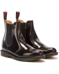 Dr. Martens Dr. Martens Flora Arcadia Womens Burgundy Leather Boots - Red