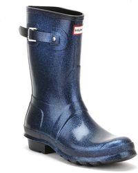 HUNTER - Original Womens Purple Short Starcloud Boots - Lyst