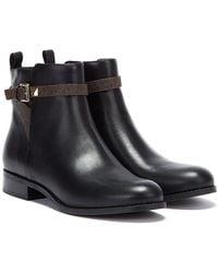 Michael Kors Fanning Flat Womens Black Boots