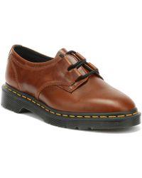 Dr. Martens Dr. Martens 1461 Ghillie Aqua Glide Cognac Brown Shoes