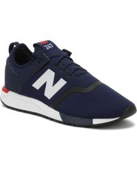 New Balance - Mens Navy 247 Trainers - Lyst