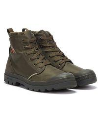 Palladium Pampa Lite+ Rcycl Wp+ Olive Night Boots - Green