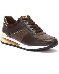 Michael Kors Allie Wrap Womens Brown Trainers