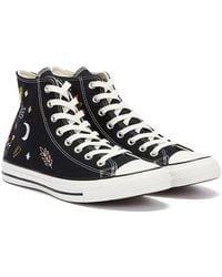 Converse All Star It's Ok To Wander Hi Schwarz / Weiss Sneakers