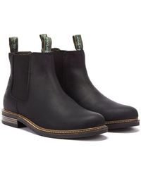 Barbour Farsley Leather Chelsea Boots - Black