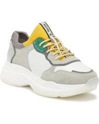 Bronx - Baisley Womens White / Yellow / Silver Chunky Trainers - Lyst