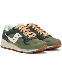 Saucony Shadow 5000 Vintage Forest / Tan Trainers - Green