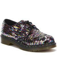 Dr. Martens Dr. Martens 1461 Sequin Womens Multi / Silver Shoes - Multicolour
