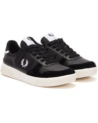 Fred Perry B300 Baskets Noir / Blanc Pour