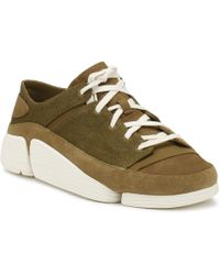 Clarks - Mens Olive Trigenic Evo Trainers - Lyst