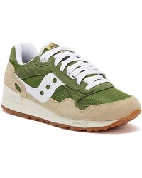 Saucony Shadow 5000 Vintage Mens Green / Brown Sneakers