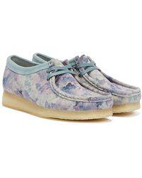 Clarks Wallabee Camo Shoes - Blue