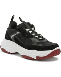 Calvin Klein - Mens Black Marvin Chunky Trainers - Lyst